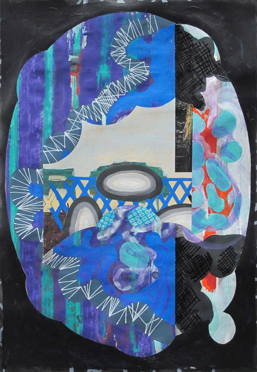 Michael Lukas, Mischtechnik auf Papier, 45 x 31 cm, 2019