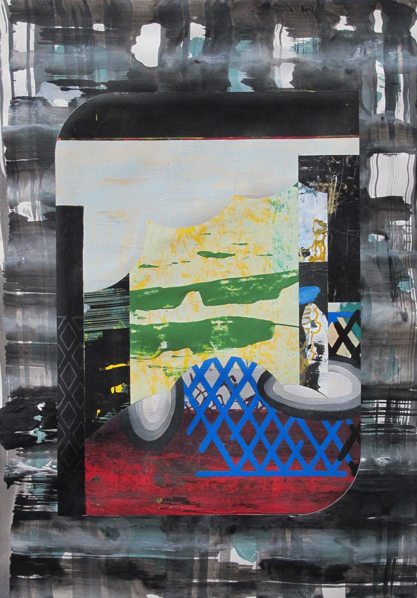 Michael Lukas. Mischtechnik auf Papier, 45 x 31 cm, 2019