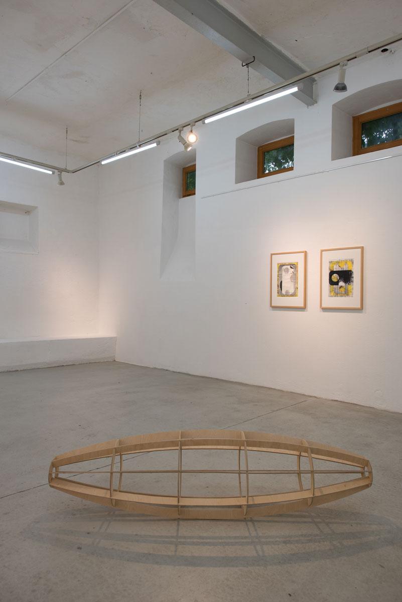 Michael Lukas, Kunstverein Ebersberg, 2019 (Vordergrund: Brigitta Heidtmann)