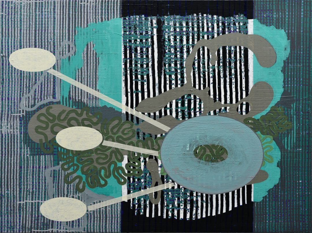 Michael Lukas, Torus, Acryl auf Leinwand, 90 x 120 cm, 2016