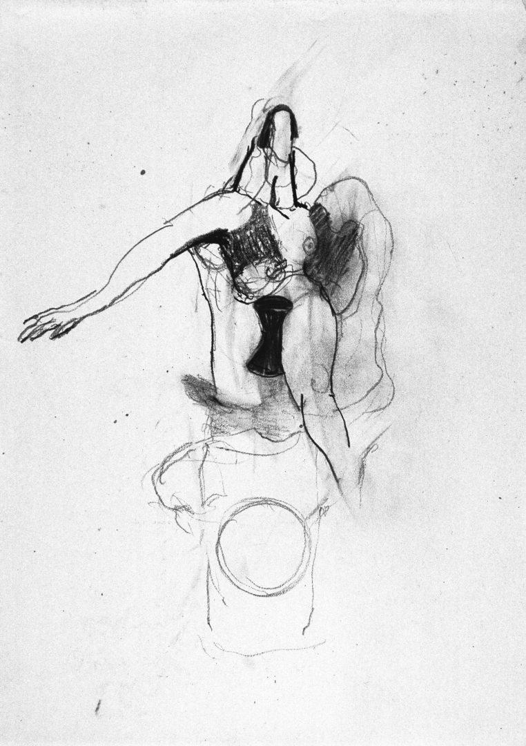 Michael Lukas, Bleistift auf Papier, 1991