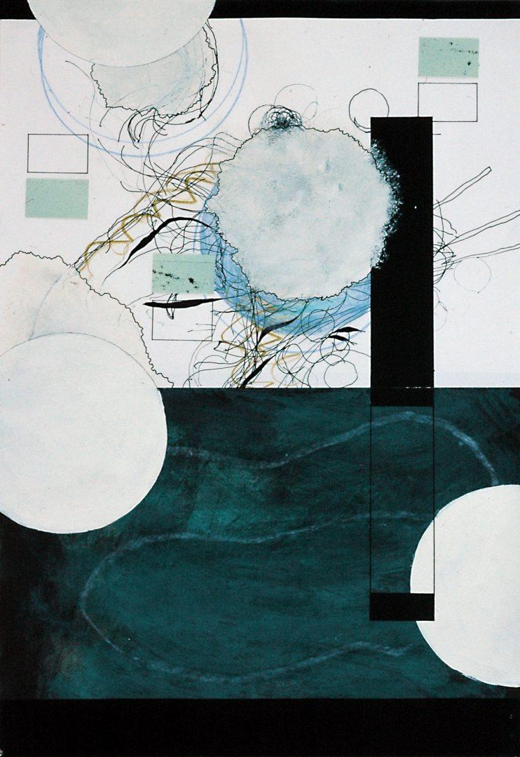 Michael Lukas, o.T., Mischtechnik auf Papier, 45 x 31 cm, 1991