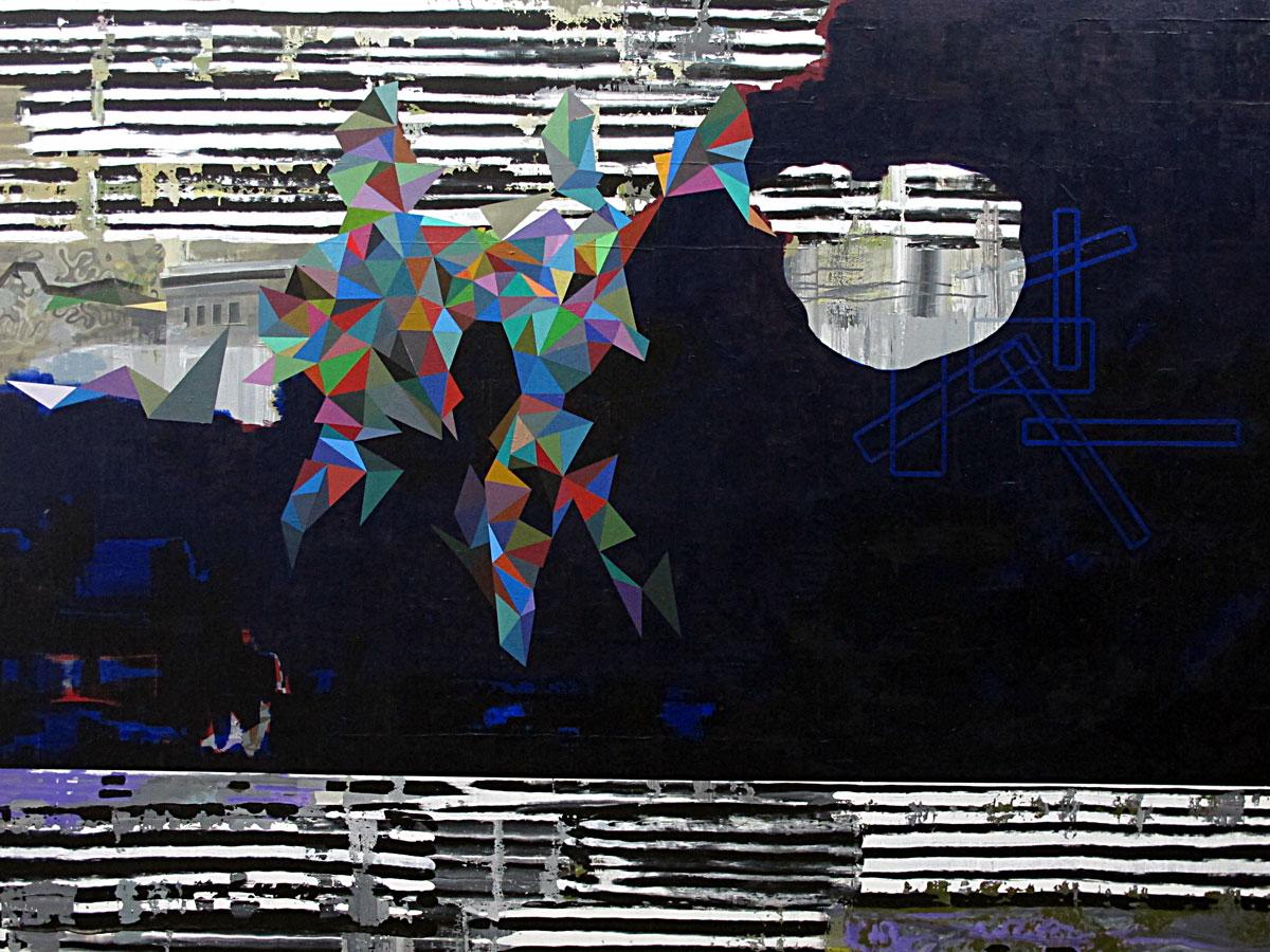 Michael Lukas, Fata Morgana, Acryl auf Leinwand, 160 x 210 cm, 2019